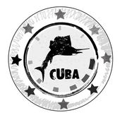 Grunge rubber stamp. Cuba. vector illustration. — Stock Vector