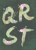 Letras decorativas, alfabeto — Vetor de Stock