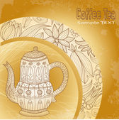 Vector, coffee, tea, background — Stockvector