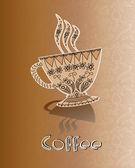 Kaffe, menyn bakgrund — Stockvektor