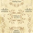 Vintage Frames and Design Elements for wedding, invitation, birthday, greetings. vector — Stock Vector