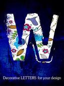 Vector, el alfabeto, las letras decorativas. — Vector de stock