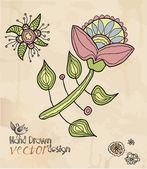 Decoratief, hand tekenen, element patroon — Stockvector