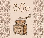 ベクトル, コーヒー, 茶, 背景 — ストックベクタ