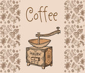 Vector, coffee, tea, background — Stock Vector