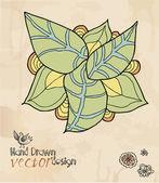 декоративный цветок, рука рисунок, элемент дизайна — Cтоковый вектор