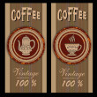 Set coffee design templates. Vector banners. - ベクター素材ストック