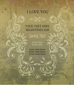 Vintage frame, invitation, valentine's day — Cтоковый вектор