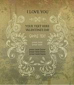 Vintage frame, invitation, valentine's day — Stockvektor