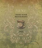 レストラン、カフェ、バー、喫茶店のメニュー — ストックベクタ