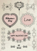 Calligraphy set, love, Valentine's Day, wedding. — Vector de stock