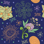 Floral seamless pattern. vector. — ストックベクタ