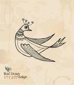 Hand drawing. bird — Stock Vector