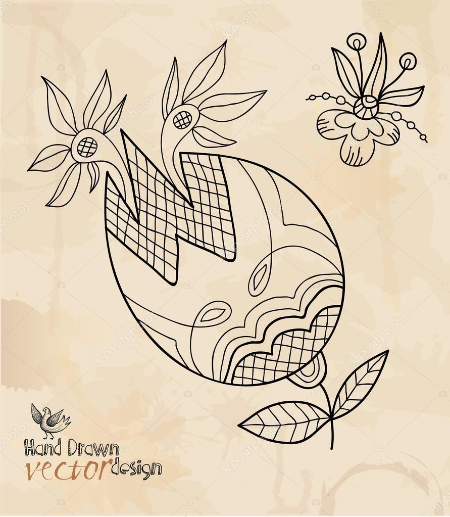 手绘图, 元素设计
