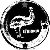 Ethiopia stamp — Stock Vector