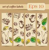 Coffee labels. Banner — Vector de stock