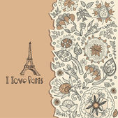 Paris. background. tourism. shopping — Vector de stock