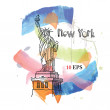 Statue of Liberty. — Stock Vector