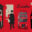 London vector card — Stockvektor