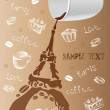 Paris, coffee, love — Stock Vector