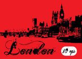 London landscape — Stock Vector
