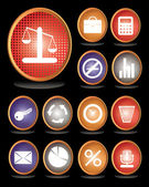 Web icon, business icon set — Stock Vector