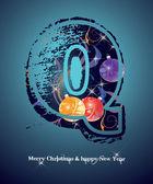 The New Year alphabet — Stock Vector