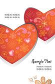 Cuore, amore, san valentino, sfondo — Vettoriale Stock