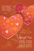 背景,情人节爱的心, — 图库矢量图片