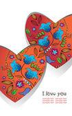 Heart, love, valentine, background — Stock Vector