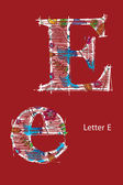 Letter E — Stock Vector