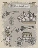Nautical collection — Stock Vector