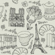 Vector set of Paris symbols. — Stock Vector #37861393
