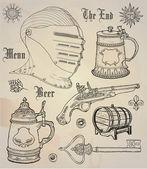Historical design elements — Stock Vector