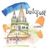 Vector illustration of Budapest — Stock Vector