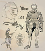 Historical design elements — Vector de stock