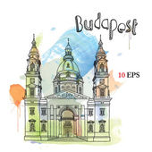 Vector illustration of Budapest — Stock Vector