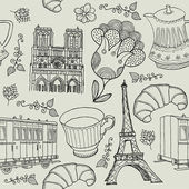 Vector set of Paris symbols. — Stock Vector