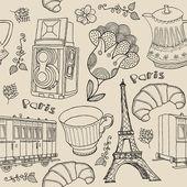 Vector set of Paris symbols. — Stock Vector