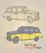 Illustration of vintage car — Vector de stock