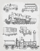Transporte antiguo — Vector de stock