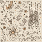 Welcome to Barcelona — Stock Vector