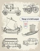 Instellen van oude vervoer — Stockvector