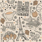 Paris background — Stock Vector