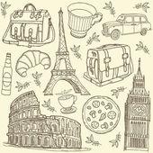 Capitales europeas — Vector de stock