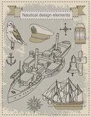 Vintage ships — Stock Vector