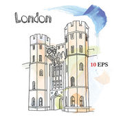 London Tower — Stock Vector