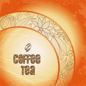 Coffee text — Stock Vector