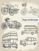 Vintage transportation — Stock Vector