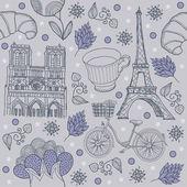 Paříž pozadí — Stock vektor